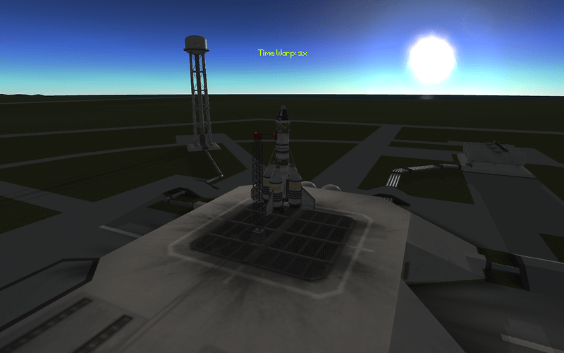 small craft on launchpad