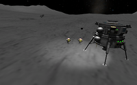 Mun Lander on the Mun - a small step for a Kerbal, a giant leap for Kerbalkind!